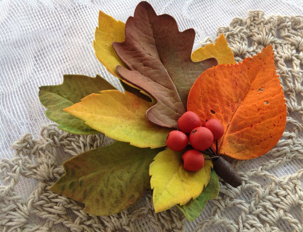 Осенняя поделка из фоамирана